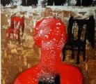 EN NINGUN LUGAR, AHORA Y AQUÍ<br /> Aguafuerte - aguatinta<br /> 118 x 80 cm <br /> 2009