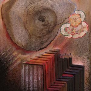 Técnica mixta sobre madera, 35x25x5cm, 2010