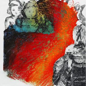 DE LETRA Y TRAZO, Intaglio, 100x80cm, 2008