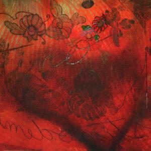 DESTINO DE MUJER, Giclée-aguafuerte-aguatinta-bordado, 49x110cm, 2010