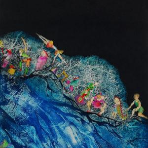 ANIMAS AMIGAS, Aguafuerte aguatinta - Iluminado a mano, 108x70cm, 2002