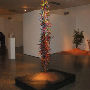 LA MARCA DE MUCHOS INVIERNOS, Técnica mixta, 420x106x150cm, 2010.