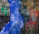 SOSPECHOSO TRÍO<br /> Giclée y lápiz color<br /> 84 x 70 cms<br /> 2011