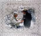 …TU BORDAS, NOSOTRAS BORDAMOS… <br /> Papel fotográfico y bordado<br /> 30 x 30 cms<br /> 2009