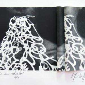 MEMORIA DE UN RELATO, Litografía sobre caucho  plegado, 38x57cm, 2017