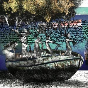 LA LENGUA MADRE, Impresión digital intervenida, 58x96cm, 2019